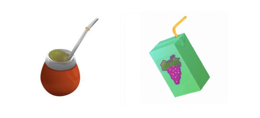 Mate e suco de caixinha também foram enviados como propostas para Emoji 12.0 (Foto: Divulgação/Unicode)