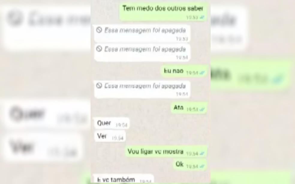 Mãe diz que filho gravou mensagens trocadas com o prefeito Assis Peixoto, de São Simão — Foto: Reprodução/TV Anhanguera