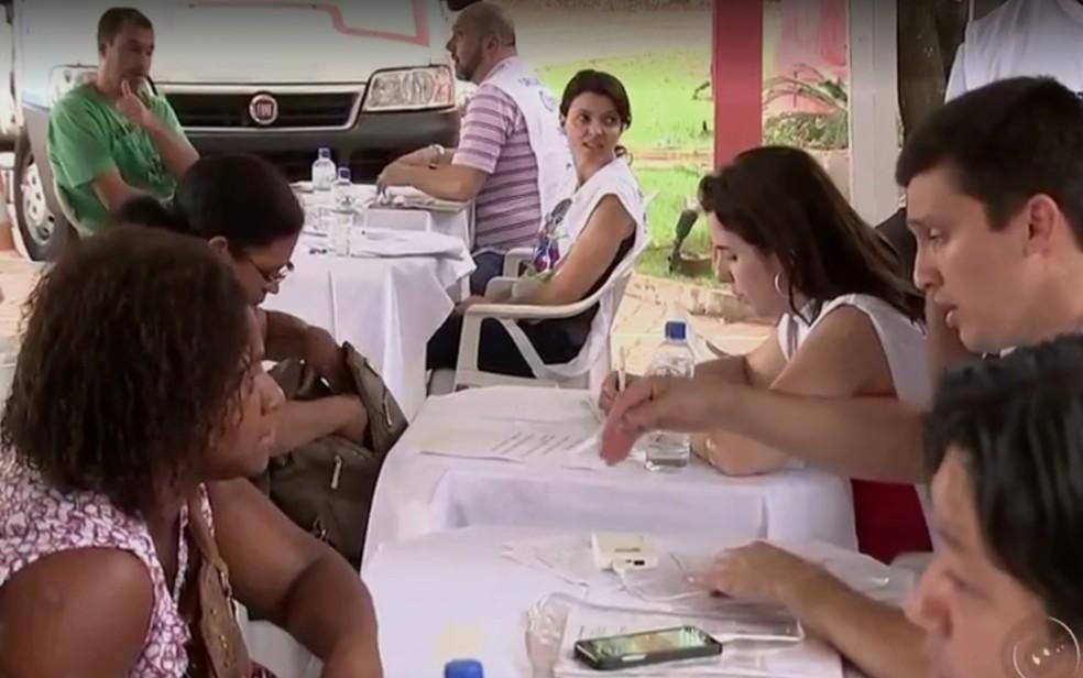 Edicação passada do mutirão do MEI em Rio Preto (Foto: Reprodução/TV TEM)