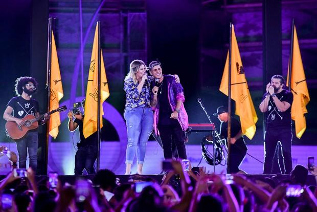 Marília Mendonça e Gaab (Foto: Gabi de Morais / AgNews)