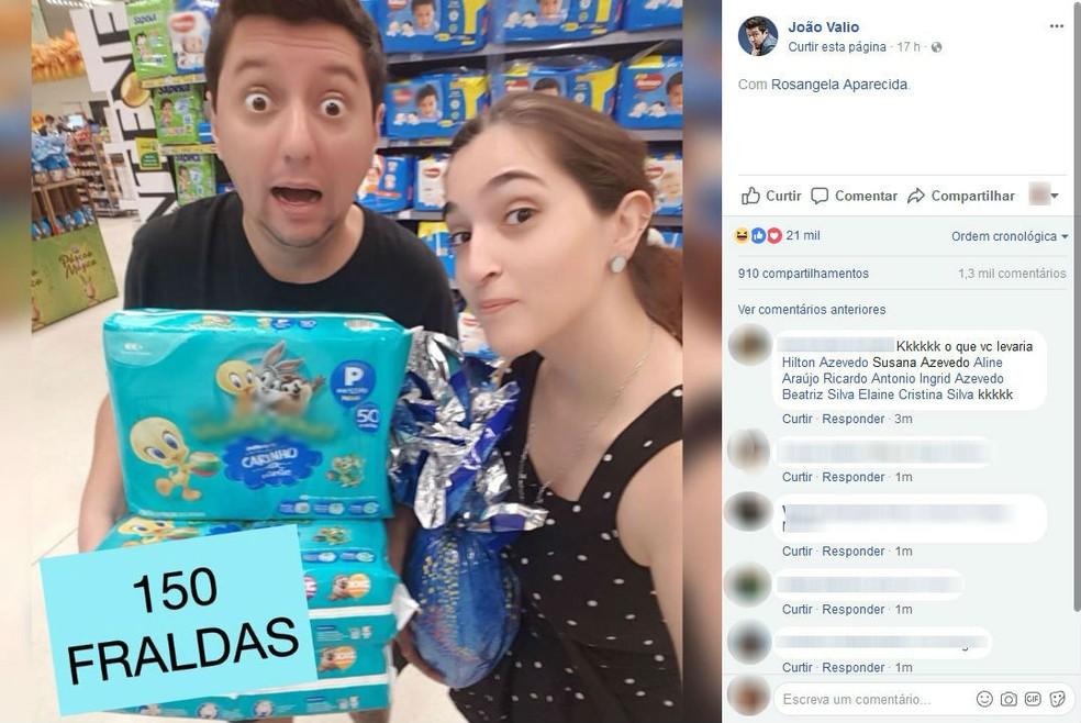 Humorista de Sorocaba fez comparações com preço de ovos de chocolate (Foto: Reprodução/Facebook)
