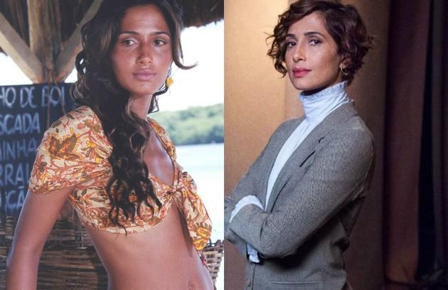 Camila Pitanga, que está no elenco da série 'Aruanas', interpretou Esmeralda. Ela era apaixonada por Guma (Marcos Palmeira) e tramava para separar Lívia (Flávia Alessandra) do pescador (Foto: TV Globo / Marcos Rosa)