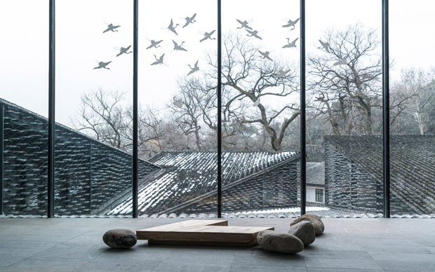 Folk Art Museum, China Academy of Arts, Hangzhou, China, de Kengo Kuma (Foto: Terrence Zhang)