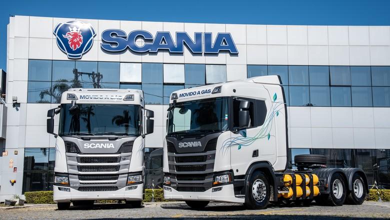 Caminhões a gás da Scania (Foto: Scania/Divulgação)
