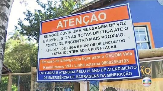 Barragens em Nova Lima e Ouro Preto entraram em alerta máximo por falta de declaração de estabilidade, diz Vale