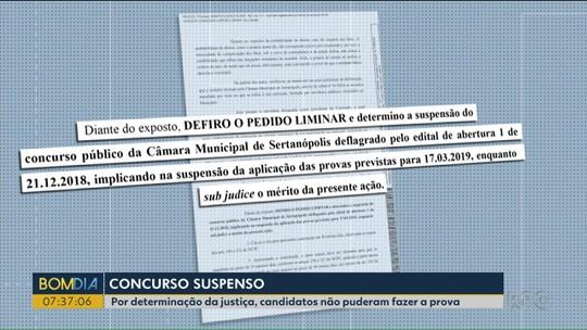 Justiça suspende concurso público da Câmara de Vereadores de Sertanópolis