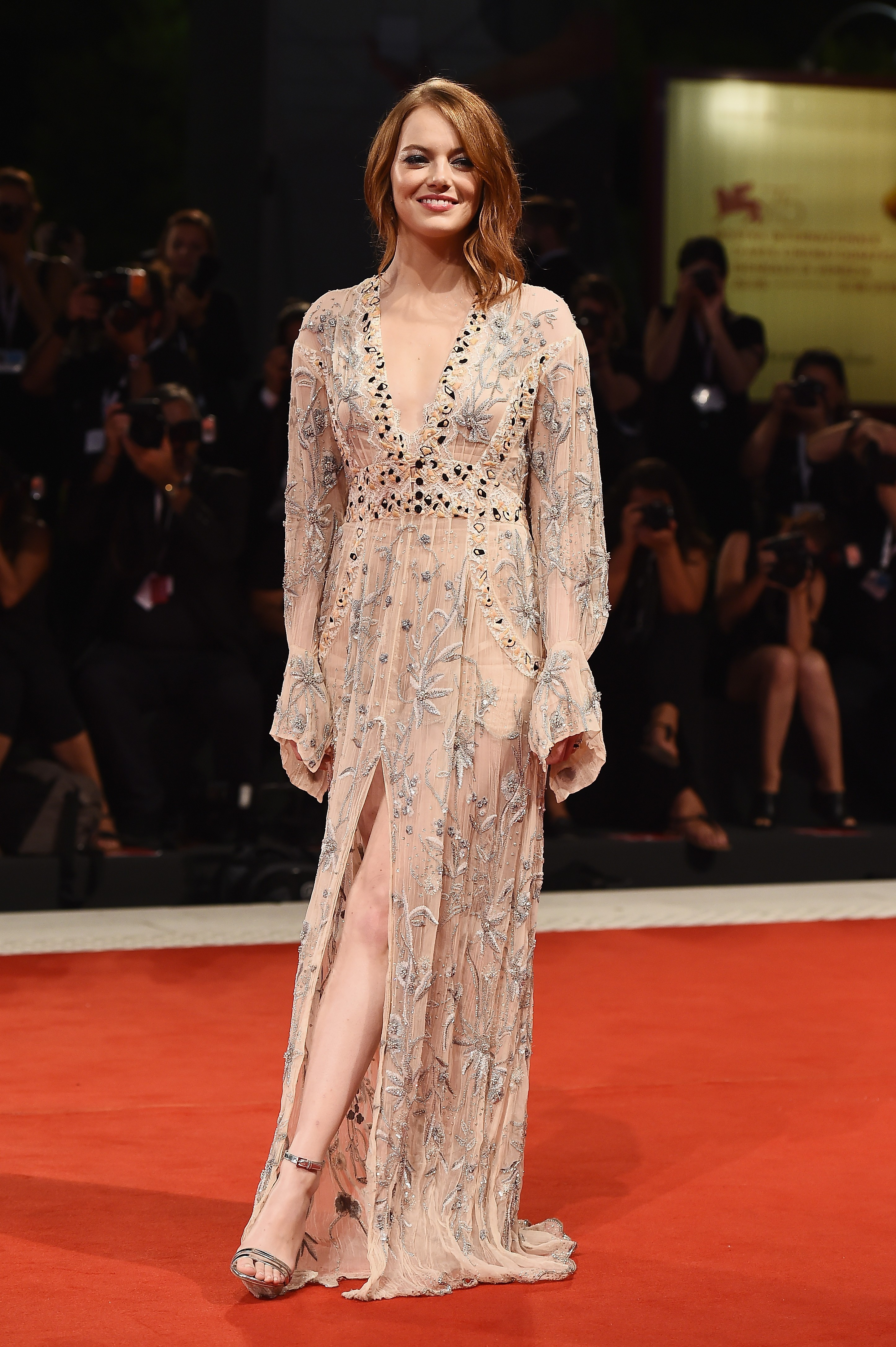 VENICE, ITALY - AUGUST 30:  Emma Stone walks the red carpet ahead of the 'The Favourite' screening during the 75th Venice Film Festival at Sala Grande on August 30, 2018 in Venice, Italy.  (Photo by Stefania D'Alessandro/WireImage) (Foto: WireImage)