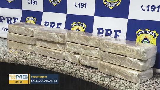 PRF prende motorista com 12kg de cocaína em Juatuba, na Região Metropolitana de Belo Horizonte