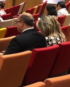 Wilson Witzel e Helena na reunião do Santo Inácio