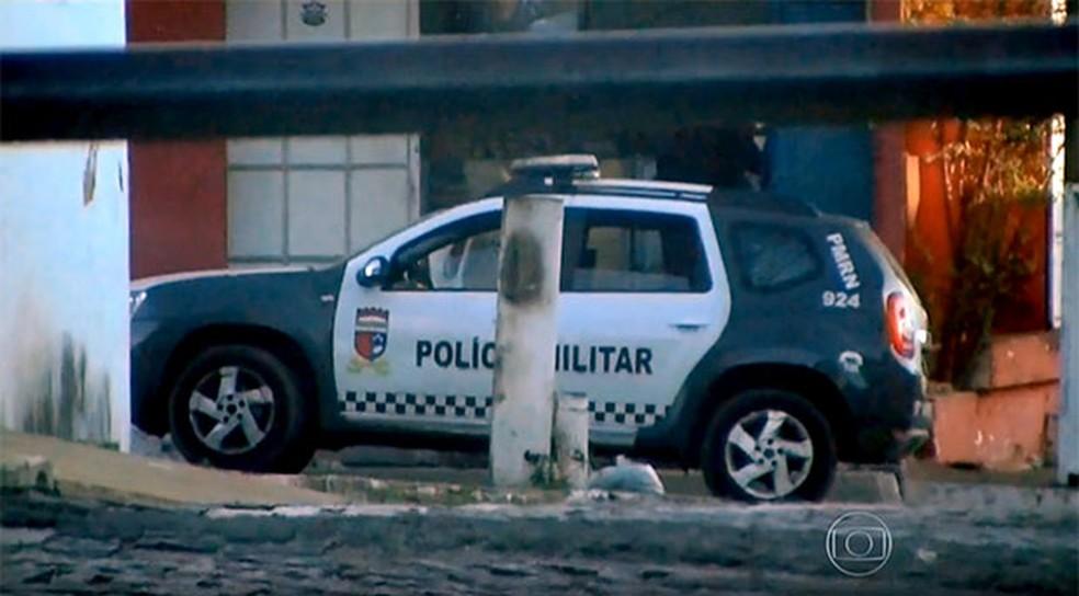 Viatura 924, a 'Viatura do Mal' — Foto: Reprodução/Rede Globo