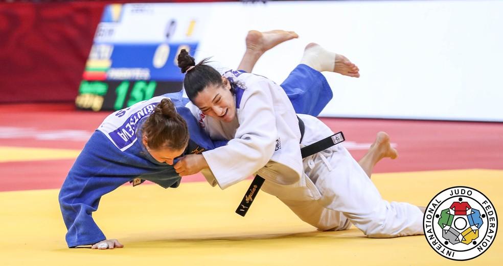Mayra Aguiar é uma das apostas de medalha do judô — Foto: Mayorova Marina