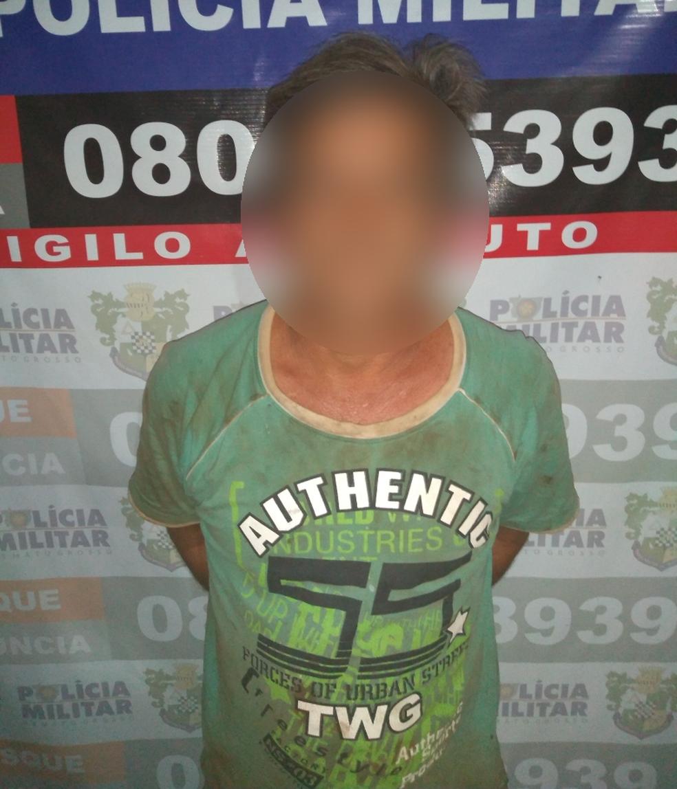 Pai foi preso após filha denunciar abusos em troca de patins em MT (Foto: Polícia Militar/Divulgação)