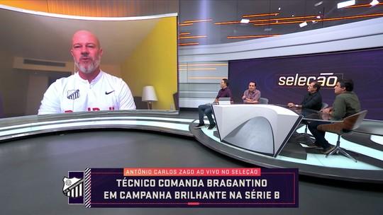 Líder da Série B, Antônio Carlos Zago diz que manutenção de base é segredo do Bragantino