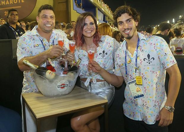 Ronaldo, Carol Sampaio e Gabriel David (Foto: RT Fotografia/ Brazil News/ CS Eventos/ Divulgação)