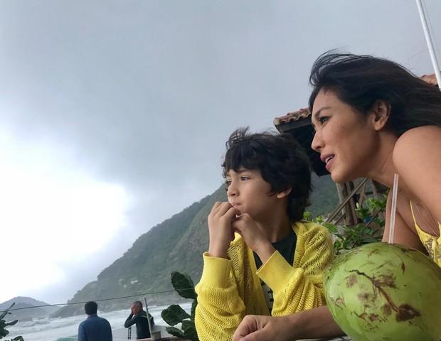 Mãe e filho adoram curtir a natureza (Foto: Arquivo Pessoal)