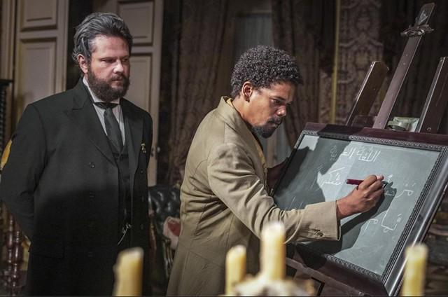 Selton Mello e Michel Gomes em 'Nos tempos do Imperador' (Foto: Paulo Belote/Globo)
