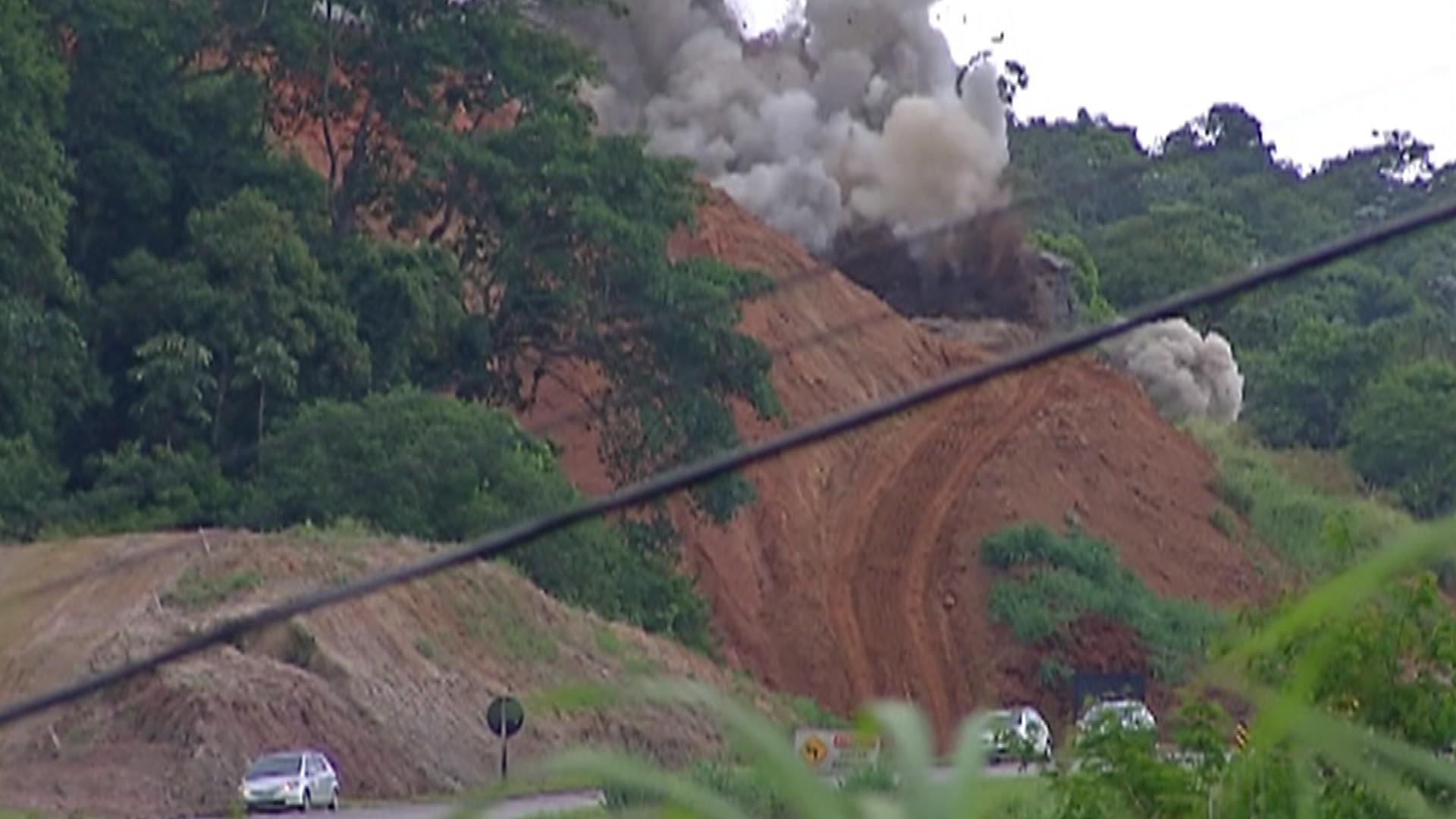 Mogi-Dutra tem nova interdição para detonação de rochas nesta quarta