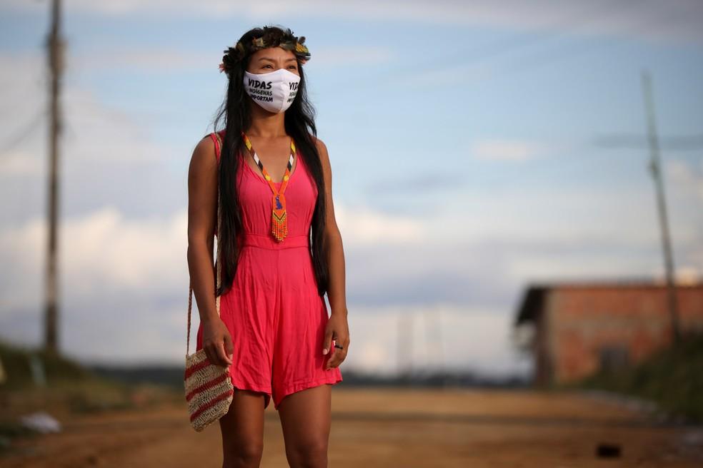 Vanda posa para uma foto — Foto: Bruno Kelly/Reuters