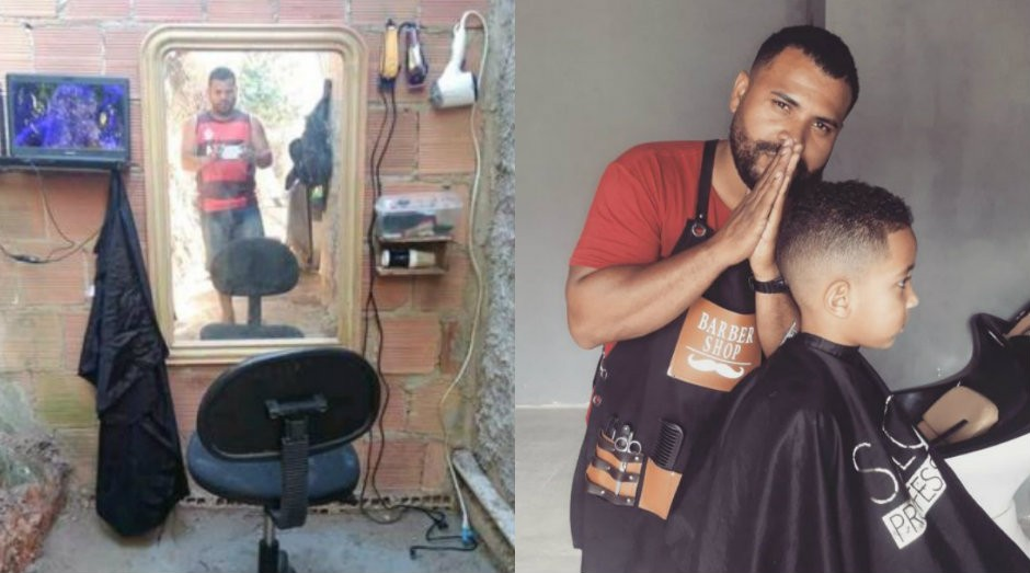 Maycon de Lima Novais perdeu o emprego e se viu obrigado a empreender para sustentar a família (Foto: Divulgação/Arquivo pessoal)