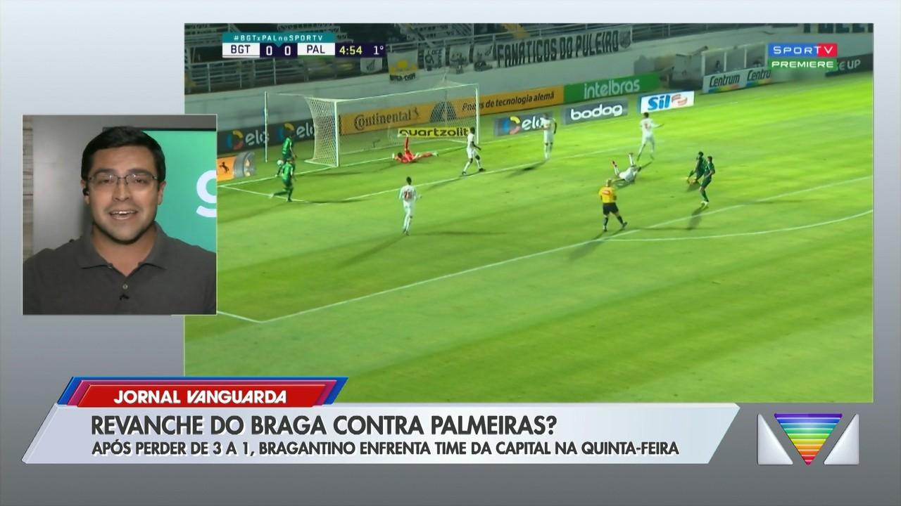 Após perder para o Palmeiras por 3 a 1, Bragantino volta a enfrentar time na quinta