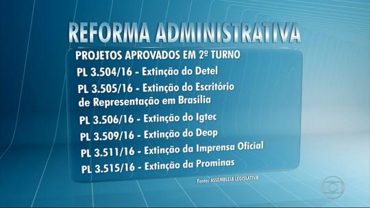 Deputados em MG aprovam PLs que compõem a reforma administrativa