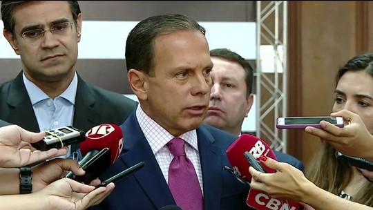 Doria declara apoio à reeleição de Maia para a presidência da Câmara