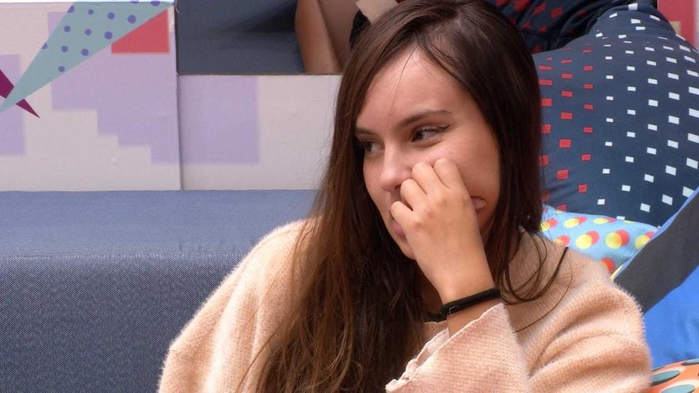 Thaís fala de ter dúvidas sobre Carla Diaz e Fiuk reflete: 'Querendo entender ainda se é o casal perfeito' — Foto: Globo