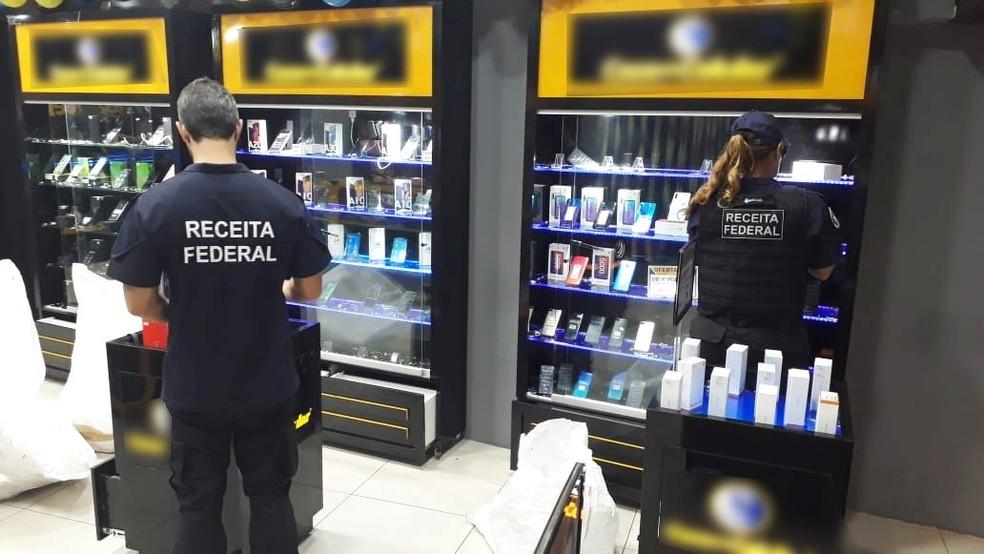 Receita Federal apreendeu R$ 1,2 milhão em produtos importados irregularmente — Foto: Receita Federal/Divulgação