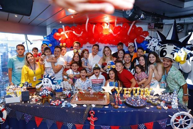 Wesley Safadão comemora aniversário de Yhudi (Foto: Eunival Silva)