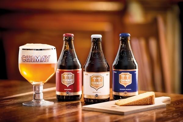 As cervejas Chimay são fabricadas em um monastério da ordem trapista na Bélgica
