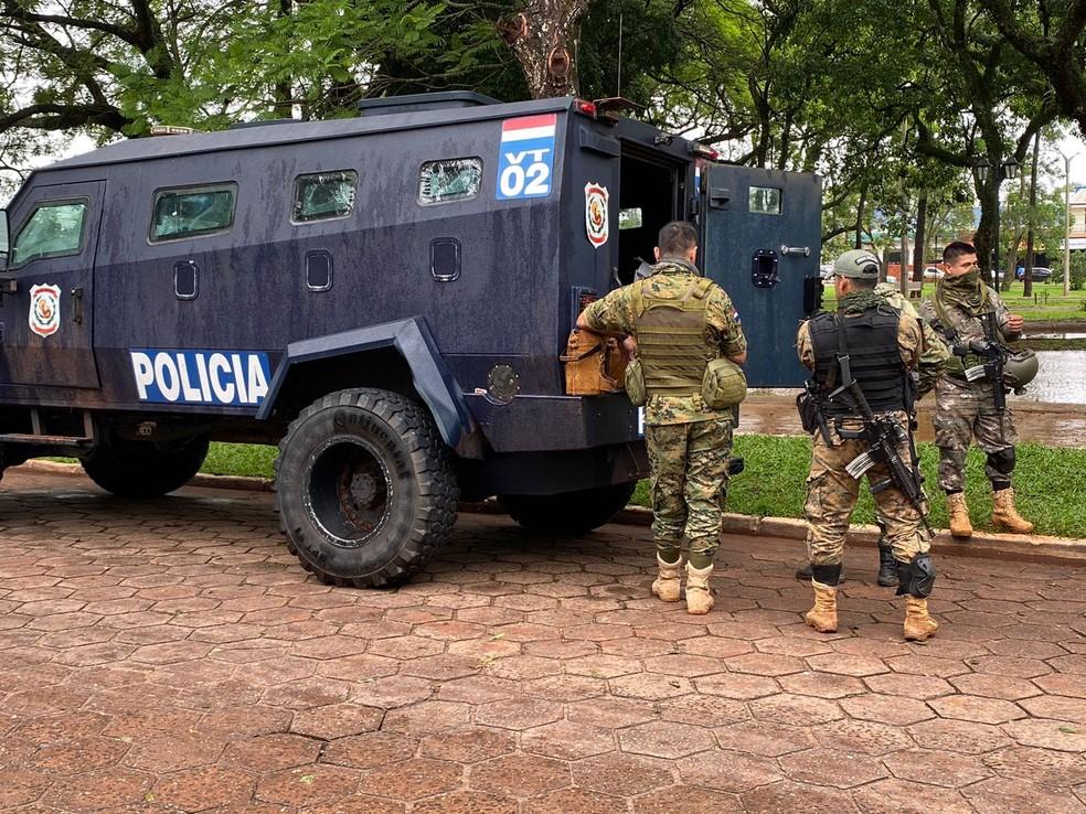 Cerca de 180 profissionais foram encaminhados à Pedro Juan Caballero para operação.— Foto: Reprodução