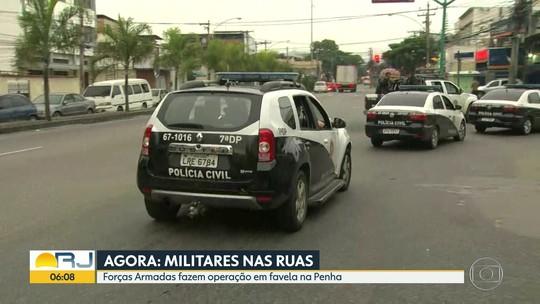 Forças Armadas e polícias Civil e Militar fazem operação na favela da Kelson's, na Zona Norte do Rio