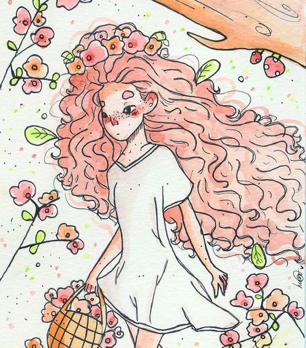 Ilustração por Luana Gurgel (Foto: Pinterest/ Reprodução)