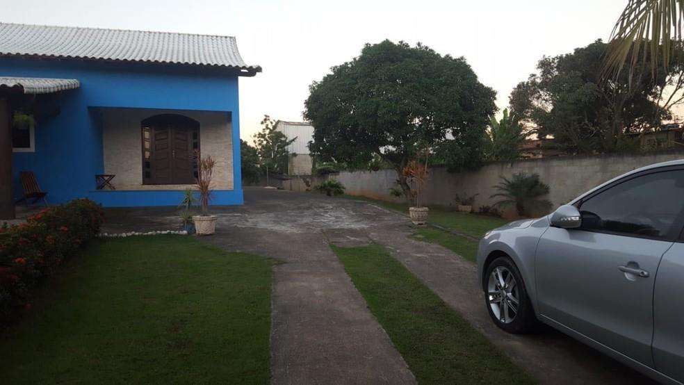 Casa onde viúva estava escondida, de acordo com a polícia (Foto: Divulgação/Polícia Civil)