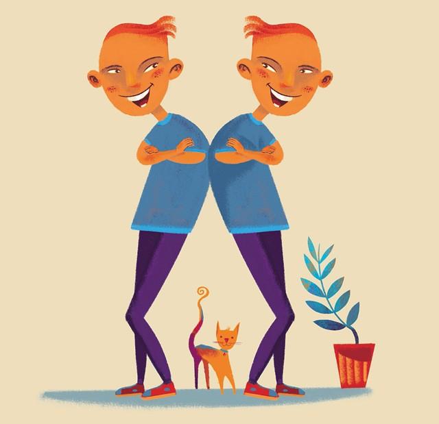 Ilustração de irmão gêmeos (Foto: Ilustração: Weberson Santiago  )