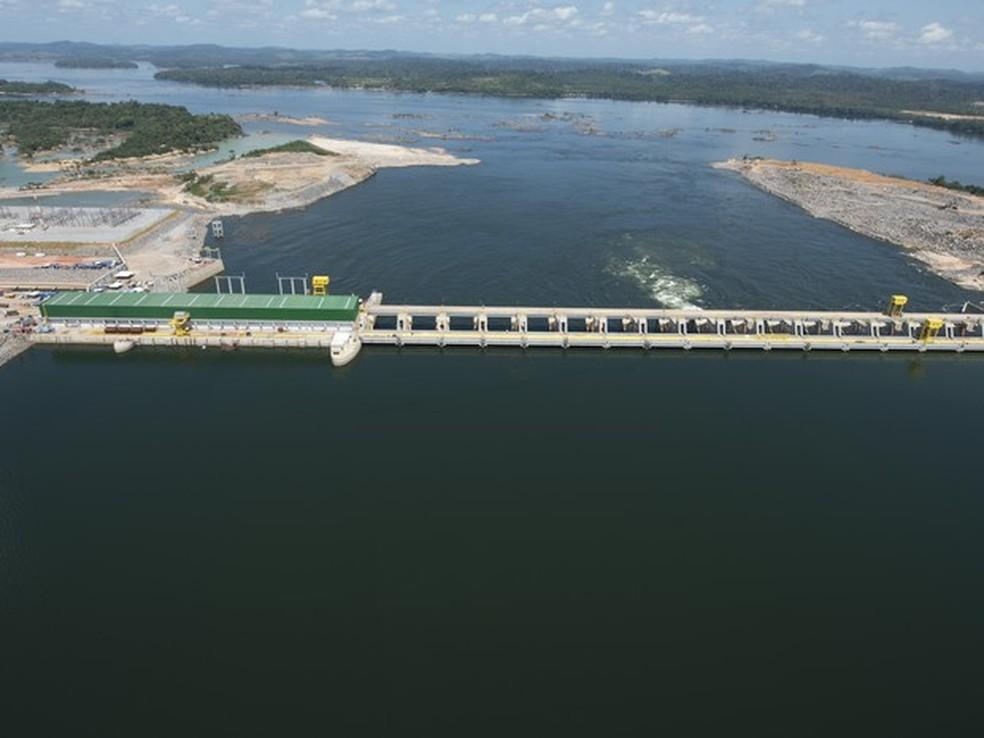 Imagem de arquivo mostra a Usina Hidrelétrica Belo Monte, localizada no rio Xingu, no Pará (Foto: Norte Energia)
