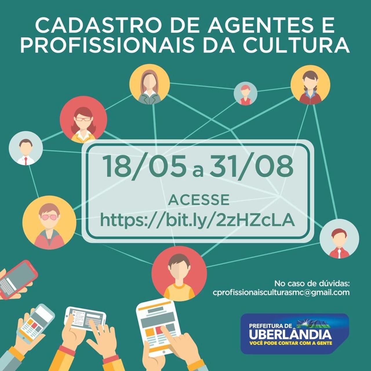 Secretaria de Cultura de Uberlândia inicia cadastro de agentes e profissionais da área