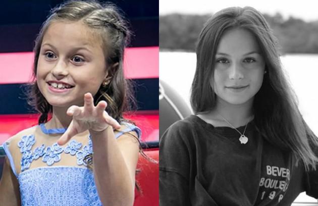 Aos 10 anos, Rafa Gomes chegou à final da primeira edição do programa. Hoje, aos 14, ela continua cantando e recentemente lançou o single 'Gratidão' (Foto: Reprodução)