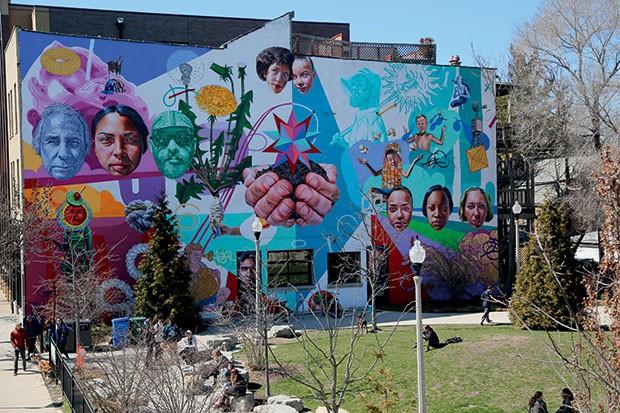 Lifestyle Chicago - Grafite típico de Wicker Park (Foto: Rogério Voltan)