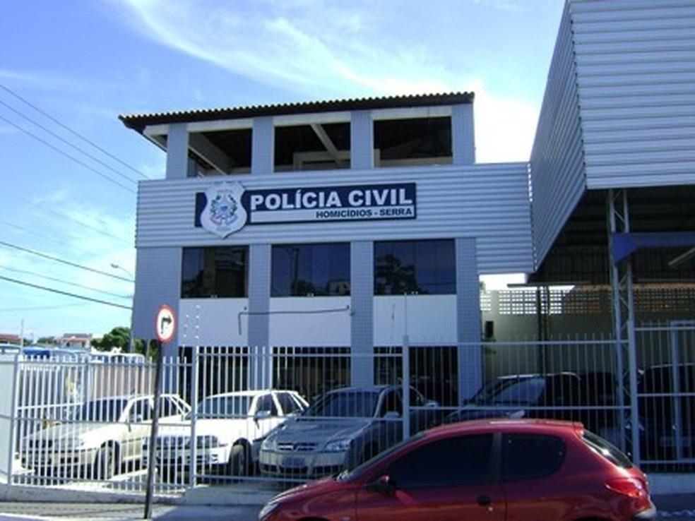 Duplo homicídio será investigado pela DHPP da Serra. — Foto: Divulgação/Polícia Civil