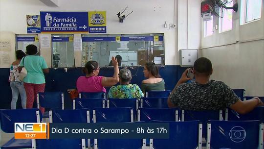 Dia D de vacinação contra sarampo reforça atendimento em unidades de saúde no Grande Recife