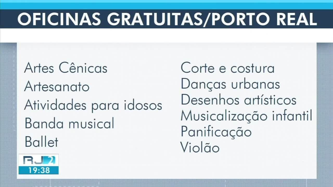 Porto Real abre inscrição para mais de 10 oficinas gratuitas