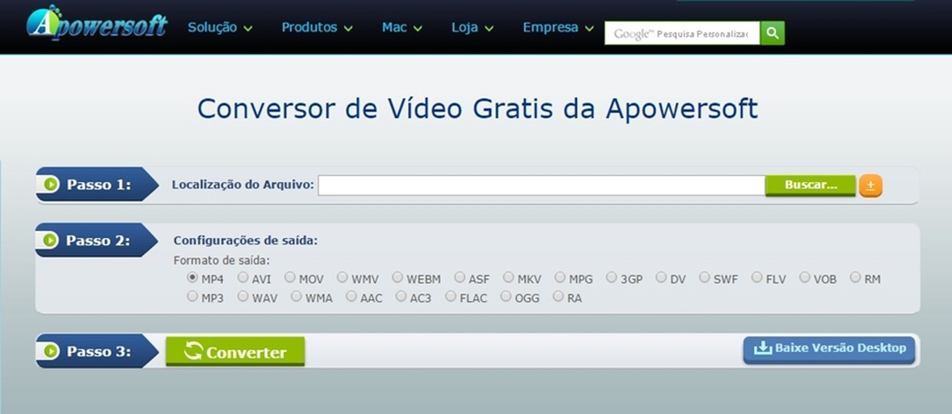 Apowersoft free online video converter download techtudo 1 stopboris Images