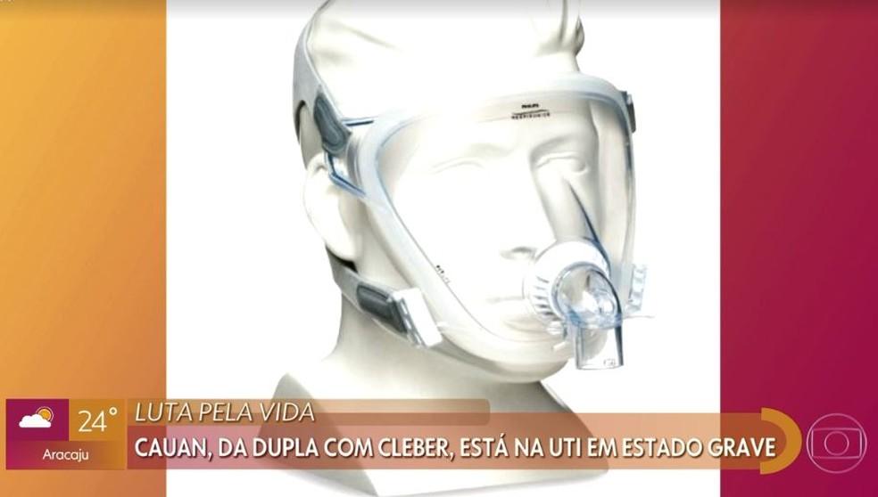 Fernando Máximo explica uso de máscara no tratamento de Covid-19 de Cauan — Foto: Globo
