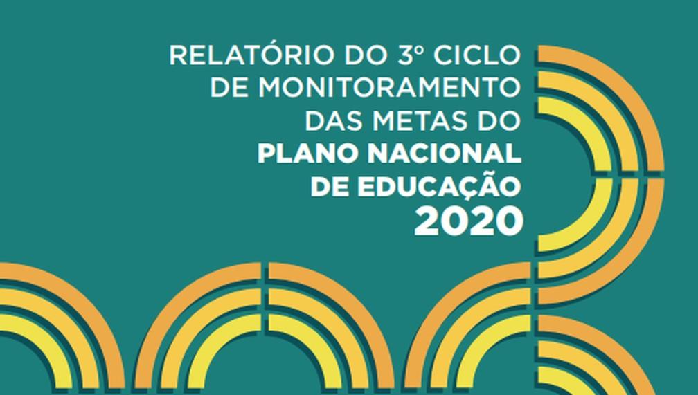 Relatório 2020 do PNE — Foto: Reprodução