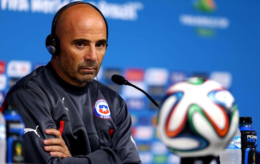 Sampaoli comandou o Chile na Copa de 2014 — Foto: Marcos Ribolli / Globoesporte.com