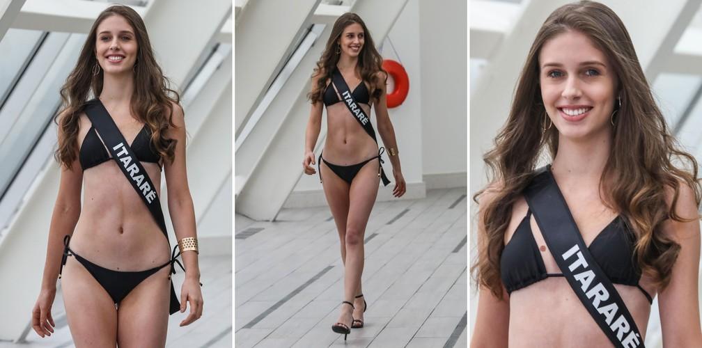 A Miss Itararé, Stephanie Giovana Raini Pavani, de 19 anos, candidata a Miss São Paulo 2018 (Foto: Fábio Tito/G1)