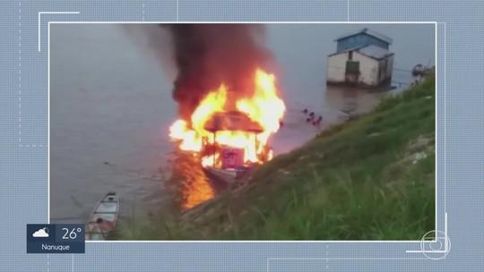 Vítima queimada em explosão de barco no Acre morre em hospital de Belo Horizonte