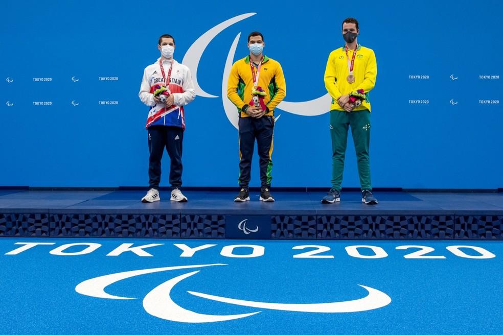 Gabriel Bandeira é ouro nas Paralimpíadas de Tóquio — Foto: Miriam Jeske