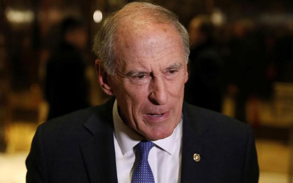 O ex-senador Dan Coats é o atual chefe da Inteligência dos Estados Unidos — Foto: Reuters/Lucas Jackson